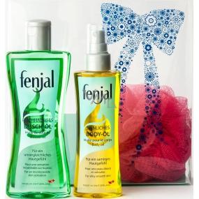 Fenjal Oil sprchový olej 200 ml + tělový olej 150 ml + masážní žínka 1 kus, kosmetická sada