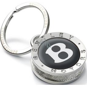 Bentley přívěsek na klíče stříbrno-černý