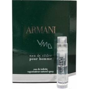 Giorgio Armani Eau de Cédre pour Homme toaletní voda 1,2 ml s rozpračovačem, Vialka