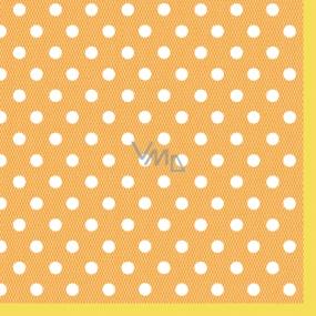 Maki Papírové dezertní ubrousky oranžové 3 vrstvé 25 x 25 cm 20 kusů