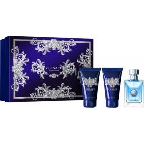 Versace pour Homme toaletní voda 50 ml + sprchový gel 50 ml + balzám po holení 50 ml, dárková sada