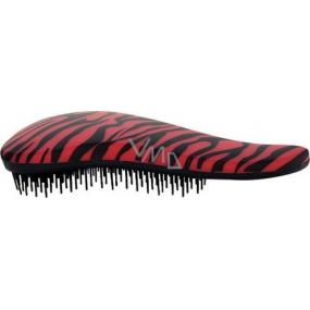 Dtangler Detangling Brush Kartáč pro snadné rozčesání vlasů 18,5 cm červeno-černý