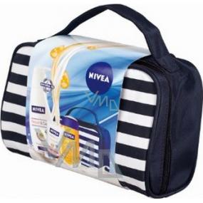 Nivea Kazcare dámské tělové mléko 400 ml + balzám na ruce 50 ml + olej 200 ml + taška, pro ženy kosmetická sada