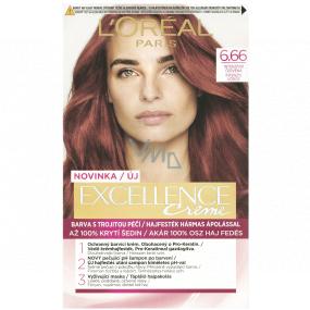 Loreal Paris Excellence Creme barva na vlasy 6.66 Intenzivní červená