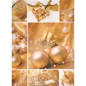 Nekupto Dárková papírová taška velká 32,5 x 26 x 13 cm Vánoční 1488 01 WBL