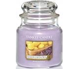 Yankee Candle Lemon Lavender - Citrón a levandule vonná svíčka Classic střední sklo 411 g