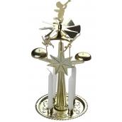 Andělské zvonění zlaté se 4 svíčkami 130 x 270 mm