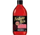 Nature Box Granátové jablko sprchový gel se 100% za studena lisovaným olejem, vhodné pro vegany 385 ml