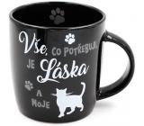 Nekupto Hafani keramický hrnek černý Kočka 300 ml