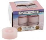 Yankee Candle Pink Sands - Růžové písky vonná čajová svíčka 12 x 9,8 g