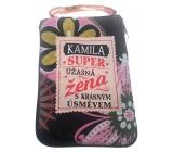 Albi Skládací taška na zip do kabelky se jménem Kamila 42 x 41 x 11 cm