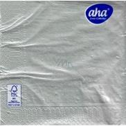 Aha Vánoční papírové ubrousky Stříbrné 3 vrstvé 33 x 33 cm 20 kusů