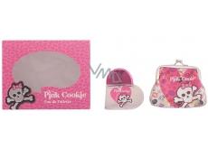 Pink Cookie toaletní voda pro děti 25 ml + peněženka, dárková sada