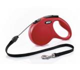 Flexi New Classic samonavíjecí vodítko S 5 m do 12 kg červená/lanko