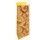 Nekupto Dárková kraftová taška na láhev 15 x 40 cm Zasněžené domečky Vánoční WHLH
