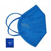 Healfabric Respirátor ústní ochranný 5-vrstvý FFP2 obličejová maska modrá medium 1 kus