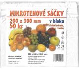 Impro Sáček mikroténový v bloku 12my 200 x 300 mm 50 kusů