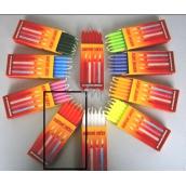 Dortové svíčky Oranžová 95 x 8 mm 12 kusů