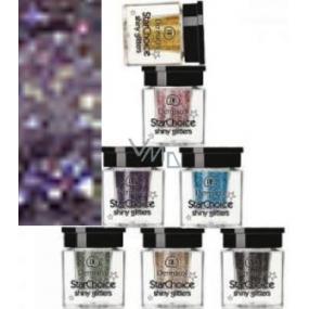 Dermacol Star Choice Shiny Glitters Třpytky na oči Odstín 4 fialová 2 g