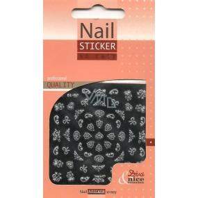 Diva & Nice Nail Sticker So Easy samolepicí obtisky na nehty 8D 1 aršík