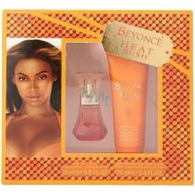 Beyoncé Heat Rush toaletní voda 15 ml + sprchový gel 75 ml, dárková sada