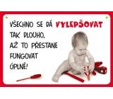 Nekupto Humor po Česku humorná cedulka 15 x 10 cm 1 kus