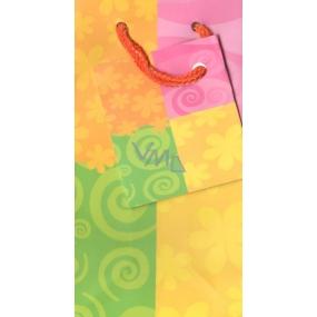 Nekupto Dárková papírová taška 13 x 7 x 5 cm Barevná 1 kus 003 FXS