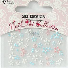 Absolute Cosmetics Nail Art 3D nálepky na nehty 24920 1 aršík