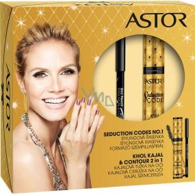 Astor Seduction Codes N1 Volume & Definition Mascara řasenka černá 10,5 ml + kajalová tužka na oči černá 3 g, kosmetická sada