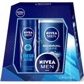 Nivea Univerzální krém pro muže 30 ml + Original Care sprchový gel pro muže 250 ml + Fresh Active deodorant spray pro muže 150 ml,pro muže kosmetická sada