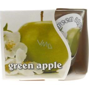 MaP Green Apple aromatická svíčka ve skle 80 g