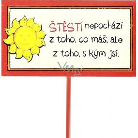 Nekupto Cedulka do květináče Štěstí 30 cm