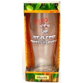 Albi Pivní liga Půllitr v krabičce Pivo je nejlepší masivní sklo 0,5 l