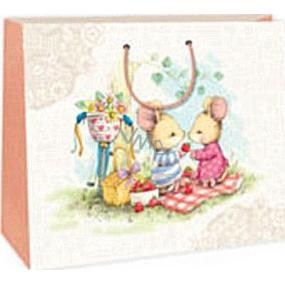 Ditipo Dárková papírová taška 38 x 10 x 29,2 cm 2 myšky