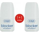 Ziaja Blocker kuličkový antiperspirant deodorant roll-on pro ženy 2 x 60 ml, duopack