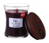 WoodWick Black Cherry - Černá třešeň vonná svíčka s dřevěným knotem a víčkem sklo malá 85 g