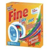 Well Done Fine Color Magnet Summer Breeze ubrousky do praní pohlcující barvu s vůní, vhodné i do sušičky prádla 12 kusů