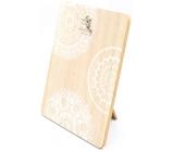 Nekupto Home Decor Deska dřevěná s klipem 17 x 13 x 0,6 cm