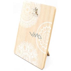 Nekupto Home Decor Dřevěná deska s klipem 17 x 13 x 0,6 cm