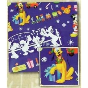 Nekupto Dárkový balicí papír 70 x 150 cm Vánoční Modrý, Mickey Mouse