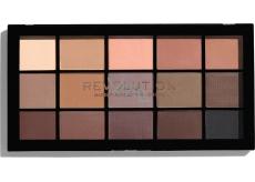 Makeup Revolution Re-Loaded paletka očních stínů Basic Mattes 15 x 1,1 g