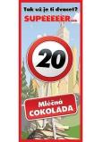 Bohemia Gifts Mléčná čokoláda Vše nejlepší 20, dárková 100 g