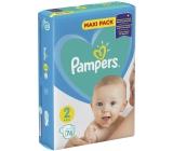 Pampers Maxi Pack 2 4-8 kg plenkové kalhotky 76 kusů