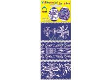 Arch Fólie na vejce smršťovací košilky modrotisk č. 543 1 balení = 6 kusů 8 x 19 cm