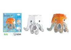 Monumi 3D Chobotnice v vymalování +/- 16,5 cm, 5+