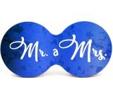Nekupto Dvojtácek korkový podtácek Mr. a Mrs. 19 x 9,5 x 0,3 cm