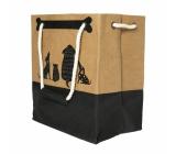 Albi Eko taška vyrobené z pratelného papíru s uchem - pejsci 30 cm x 34 cm x 18 cm