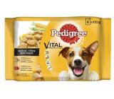 Pedigree Vital Protection s kuřecím masem a zeleninou, s hovězím a zeleninou ve šťávě kapsička 4 x 100 g