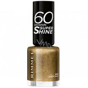Rimmel London 60 Seconds Super Shine Nail Polish lak na nehty 820 Craycray 8 ml