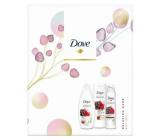Dove Nourishing Secrets Vyživující African Ritual Kakao & Ibišek sprchový gel 250 ml + tělové mléko 250 ml + deodorant antiperspirant sprej 150 ml, kosmetická sada